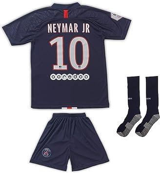 And PSG #10 Neymar 2019/2020 - Camiseta de fútbol con pantalones cortos y calcetines para niños y jóvenes, talla, 104 - (2-3 Jahre): Amazon.es: Deportes y aire libre