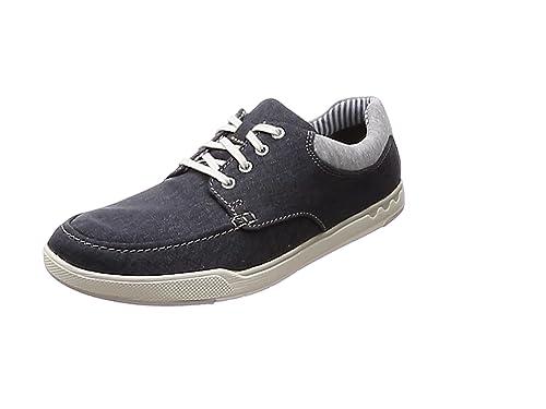 Clarks Step Verve Lo, Zapatillas para Mujer, Azul (Navy), 39 EU