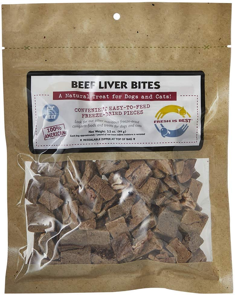 Fresh Is Best Freeze Dried Raw Beef Dog & Cat Treats (Beef Liver)