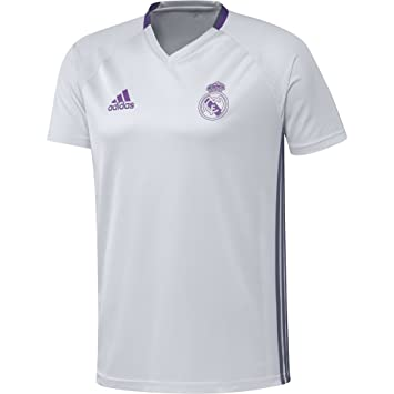 Adidas Real Madrid CF TRG JSY Camiseta, Hombre, Blanco/Morado, XXL