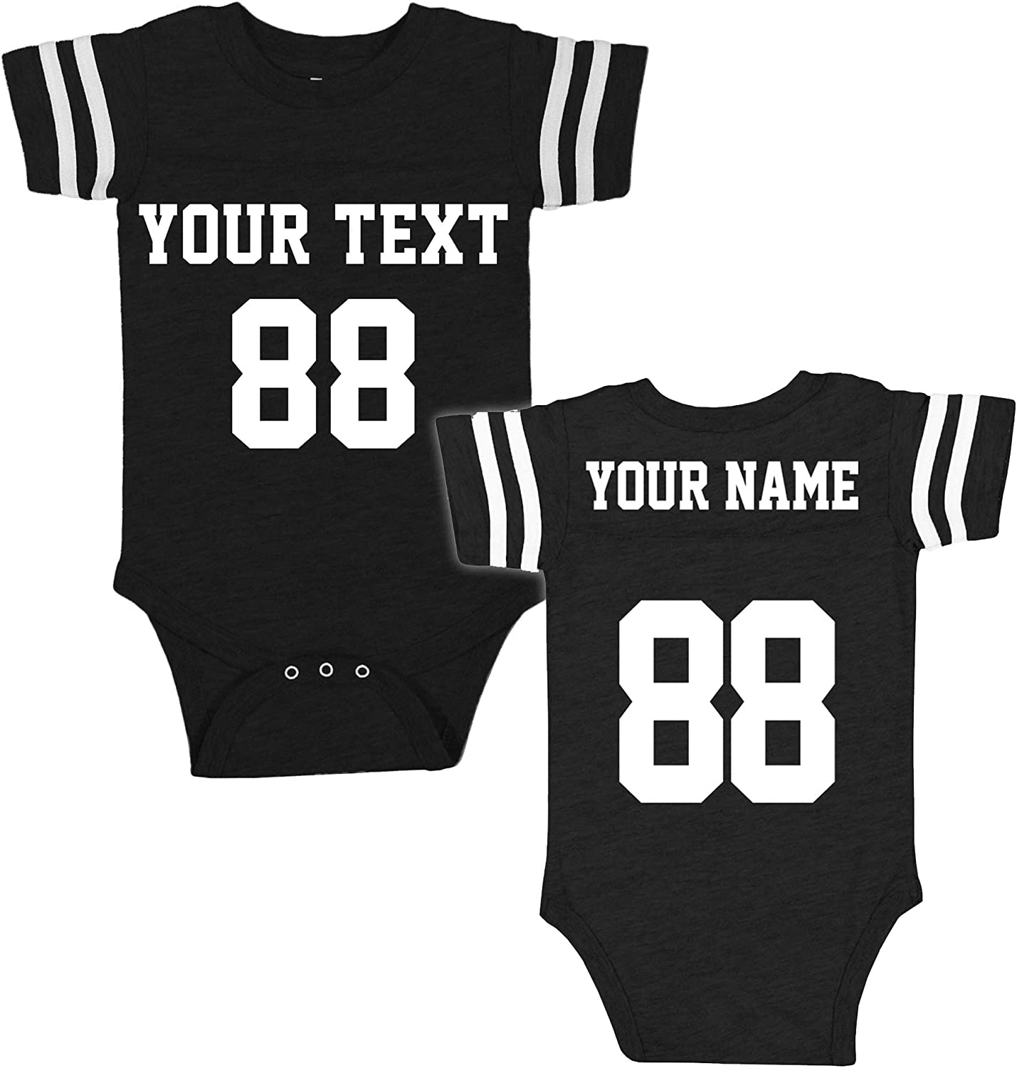 Custom Jerseys for Babies - Make Your OWN 2 Sided Jersey Onesie - Personalized Baby Onesies & Outfits