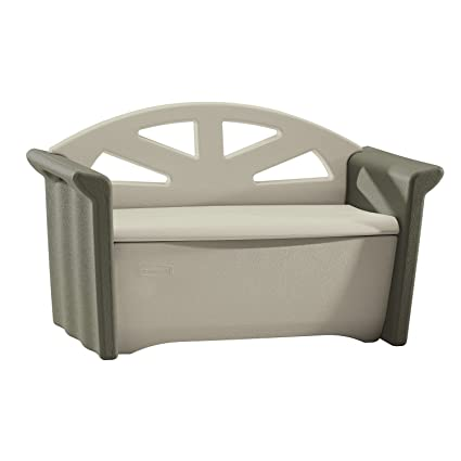 Rubbermaid Outdoor Patio Storage Bench, 4 cu. ft, Olive/Sandstone  (FG376401OLVSS - Amazon.com : Rubbermaid Outdoor Patio Storage Bench, 4 Cu. Ft, Olive