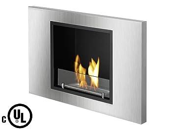Amazon.com: Ignis Lima Recessed Ventless Ethanol Fireplace UL ...