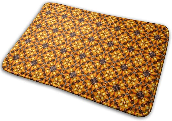 "Imagen deBLSYP Felpudo Feathered Sunflowers Doormat Anti-Slip House Garden Gate Carpet Door Mat Floor Pads 15.8"" X 23.6"""