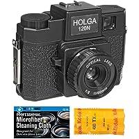 Holga 120N Medium Format Film Camera (Black) with Kodak TX 120 Film Bundle and Microfiber…
