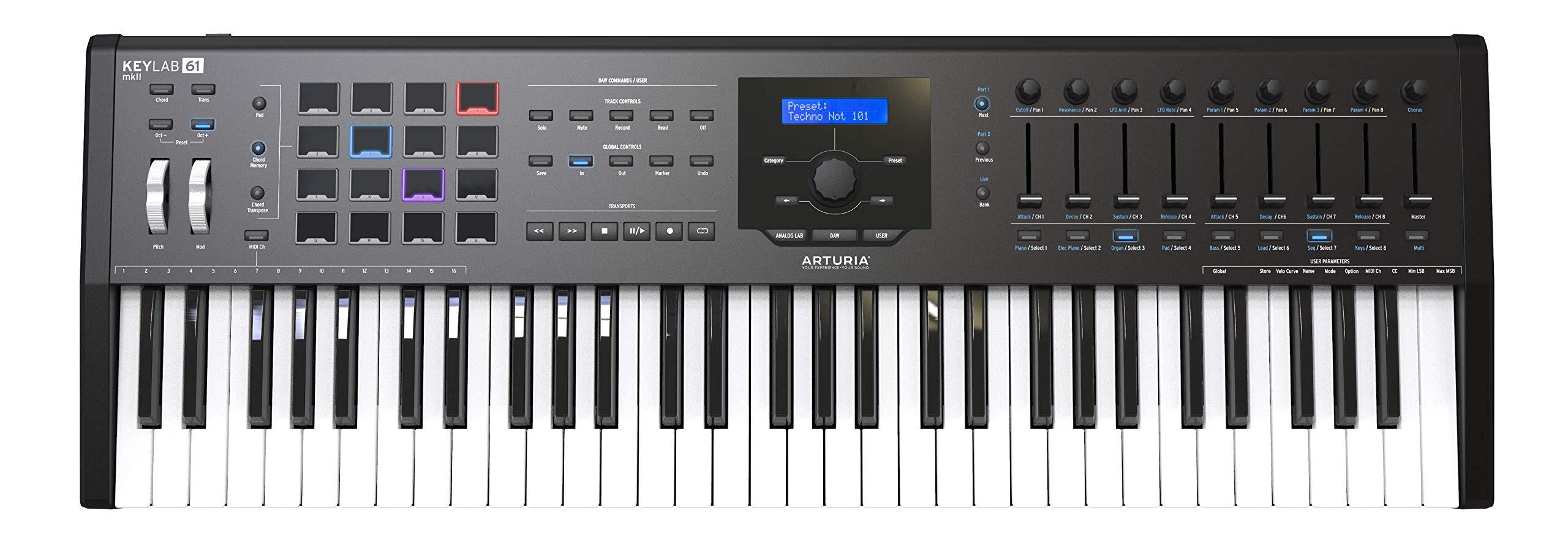 Arturia KeyLab 61 MKII Keyboard Controller (Black) by Arturia (Image #1)
