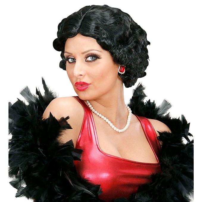 Perücke Damen Karneval Hellblond kurz 20er 30er Swing Charleston Scheitel lockig