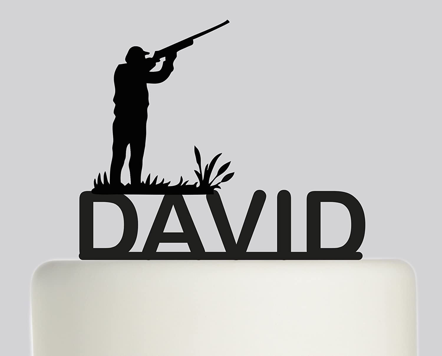 Prime Large Birthday Cake Topper Shooting Hunting Gun Personalised Personalised Birthday Cards Veneteletsinfo