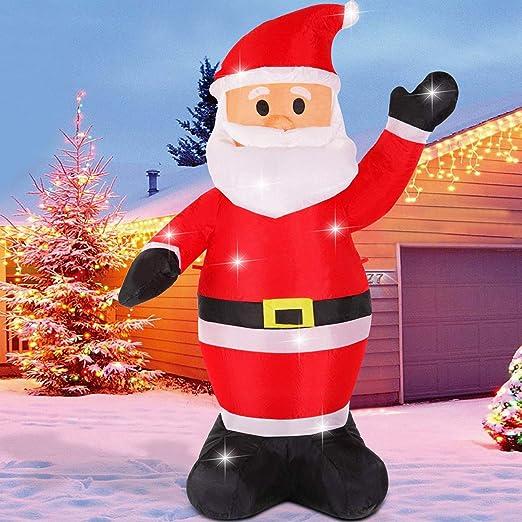 Fanshunlite - Árbol de Navidad Hinchable con Luces LED de 8 pies ...