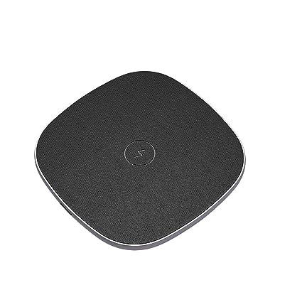 POWERADD Cargador Inálambrico Rápido, Carga Estándar Fast Wireless Charger para iPhone 8, 8 Plus, iPhone X, Samsung S9 Plus S9 S8 Plus S8 Note8 S7, ...