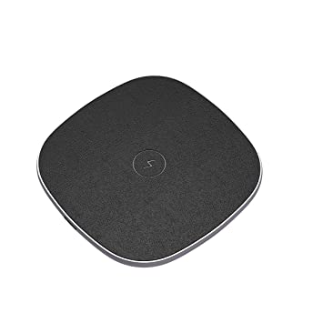 POWERADD Cargador Inálambrico Rápido, Carga Estándar Fast Wireless Charger para iPhone 8, 8 Plus, iPhone X, Samsung S9 Plus S9 S8 Plus S8 Note8 S7, ...