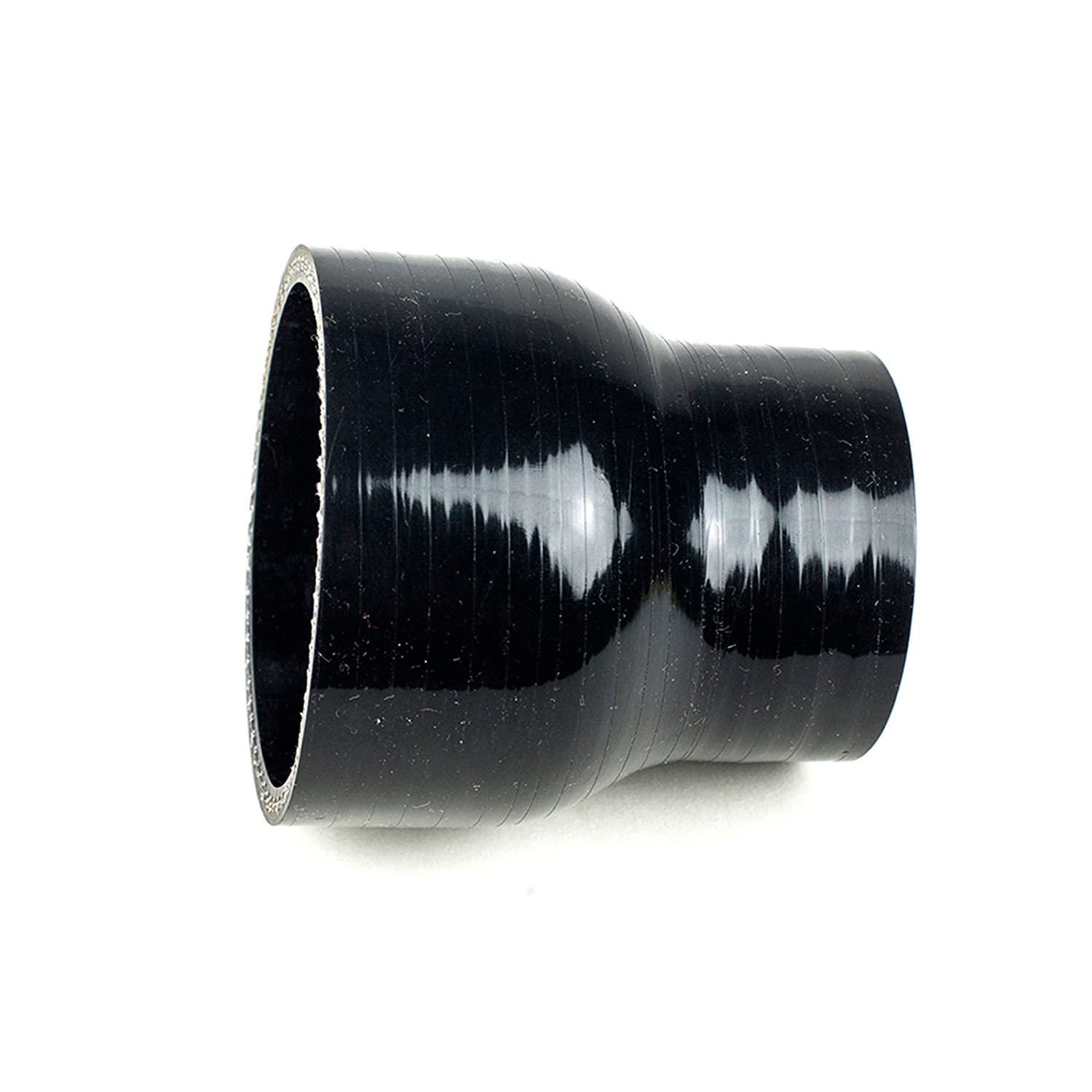 Squirrelly 2.75 to 2.5 inch Black Silicone Reducer Coupler Turbo Pipe w// 2x T-Bolt Clamps