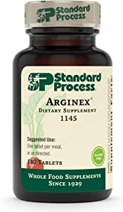 Standard Process Arginex - Whole Food Formula for Body Cleanse Organs - Liver Support and Kidney Health Supplement with Vitamin A, Oat Flour, Buckwheat and Ascorbic Acid - 180 Tablets