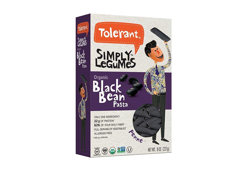 Tolerant Foods Organic Black Bean Pasta-Penne-12 oz by Tolerant Foods