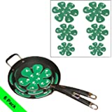 Evelots Set of 6 Pan & Dish Scratch Protector Pads For Cookware/Dishware, Green