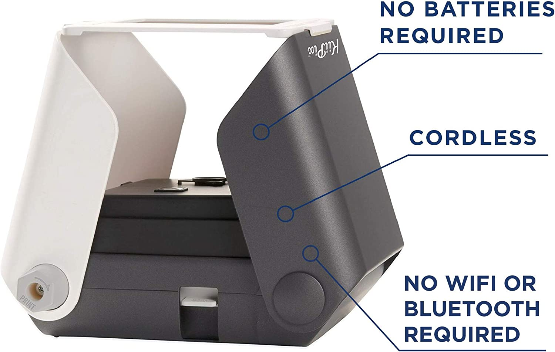KiiPix Portable Photo Printer, Black