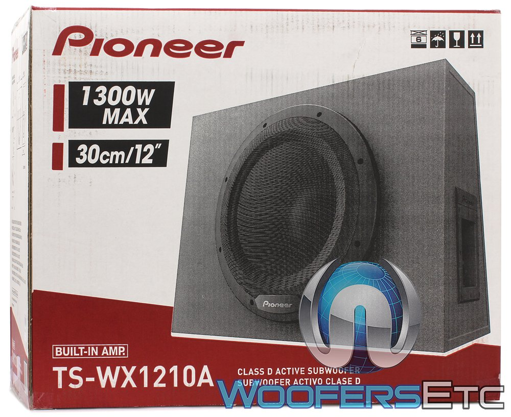 Pioneer Ts Wx1210a 12 Sealed Enclosure Active Subwoofer Dual 2 Ohm Wiring With Built In Amplifier Cell Phones Accessories