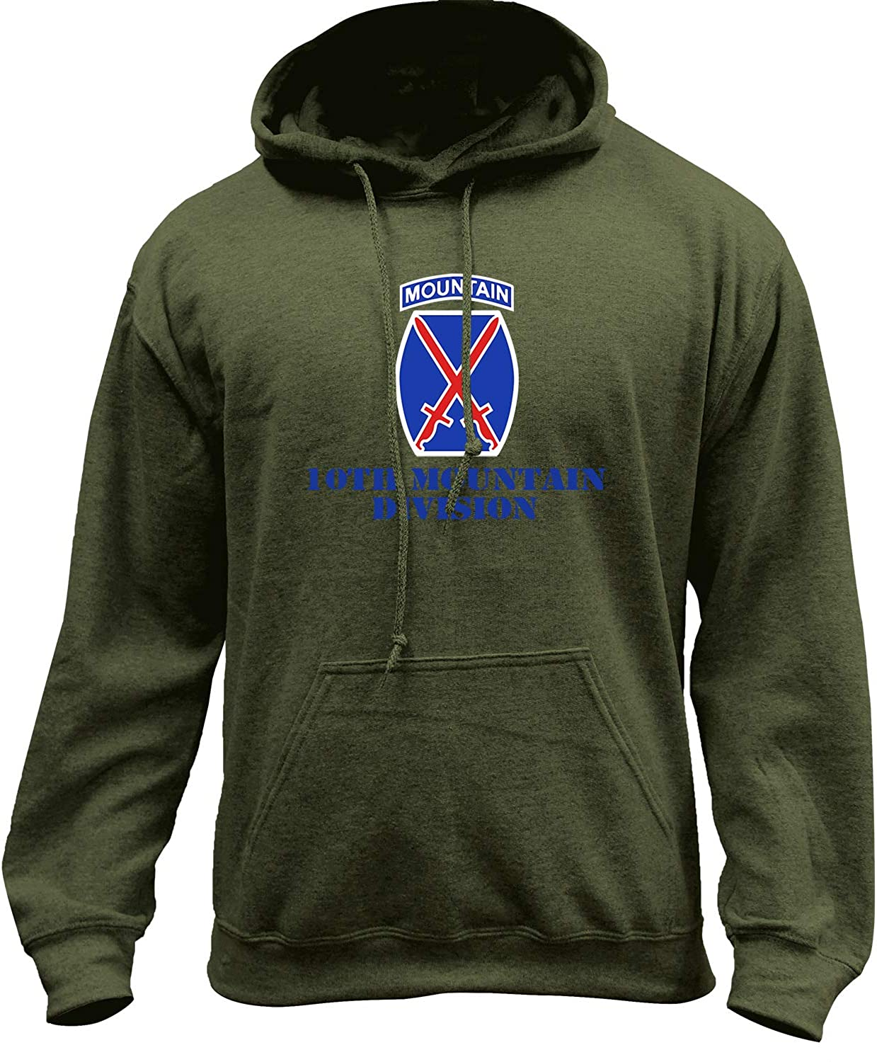USAMM Army 10th Mountain Division Full Color Veteran Pullover Hoodie