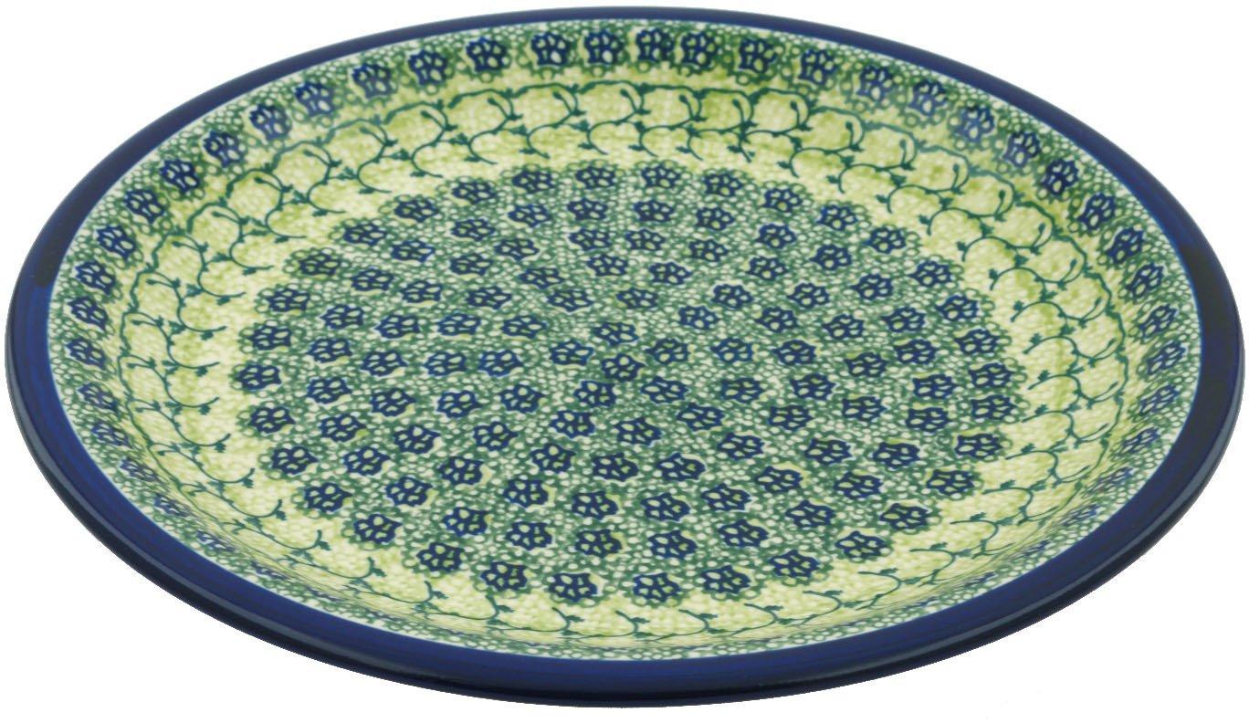 Polish Pottery Dinner Plate 11-inch Emerald Forest by Polmedia Polish Pottery