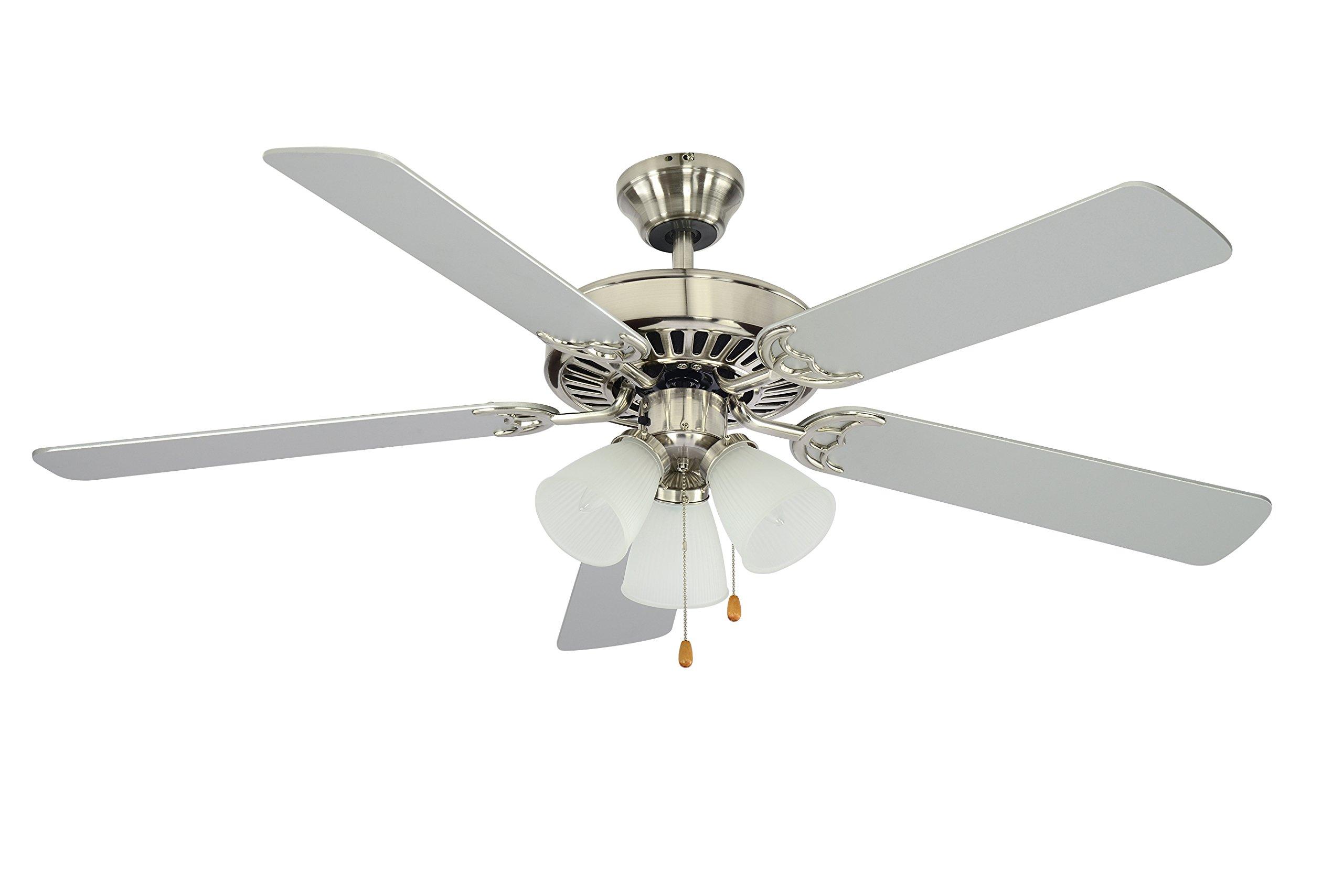 Trans Globe Lighting F-1005 BN Indoor  Spottswood Ceiling Fan, Brushed Nickel