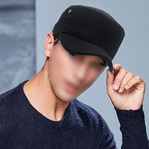 e20413f6a Men Baseball Caps Skull Embroidered Logo Flat Top Hats Cotton Snapback Flat  Cap Army Cadet Hat Women at Amazon Men's Clothing store: