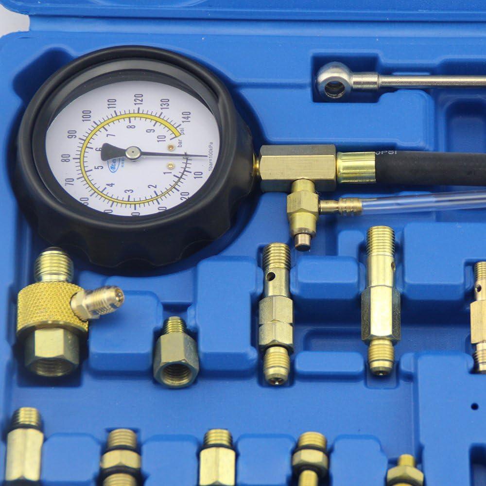 UTOOL Fuel Pressure Tester Gauge Fuel Pmup Compression Tester for VW Audi Benz BMW