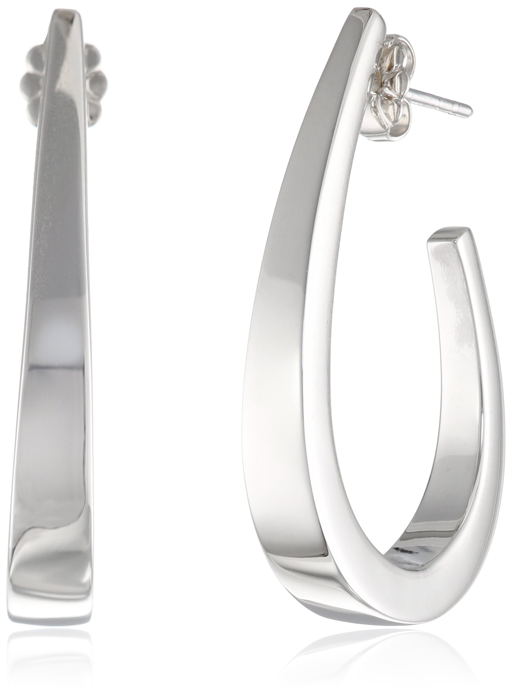Zina Sterling Silver Classic J Earrings