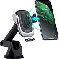 CHOETECH Wireless Car Charger, Auto-Clamping 15W Max Fast Charging Car Mount, USB C Phone Holder Compatible with iPhone…