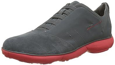 | Geox U52D7B Men's Nebula Sneaker, CharcoalRed