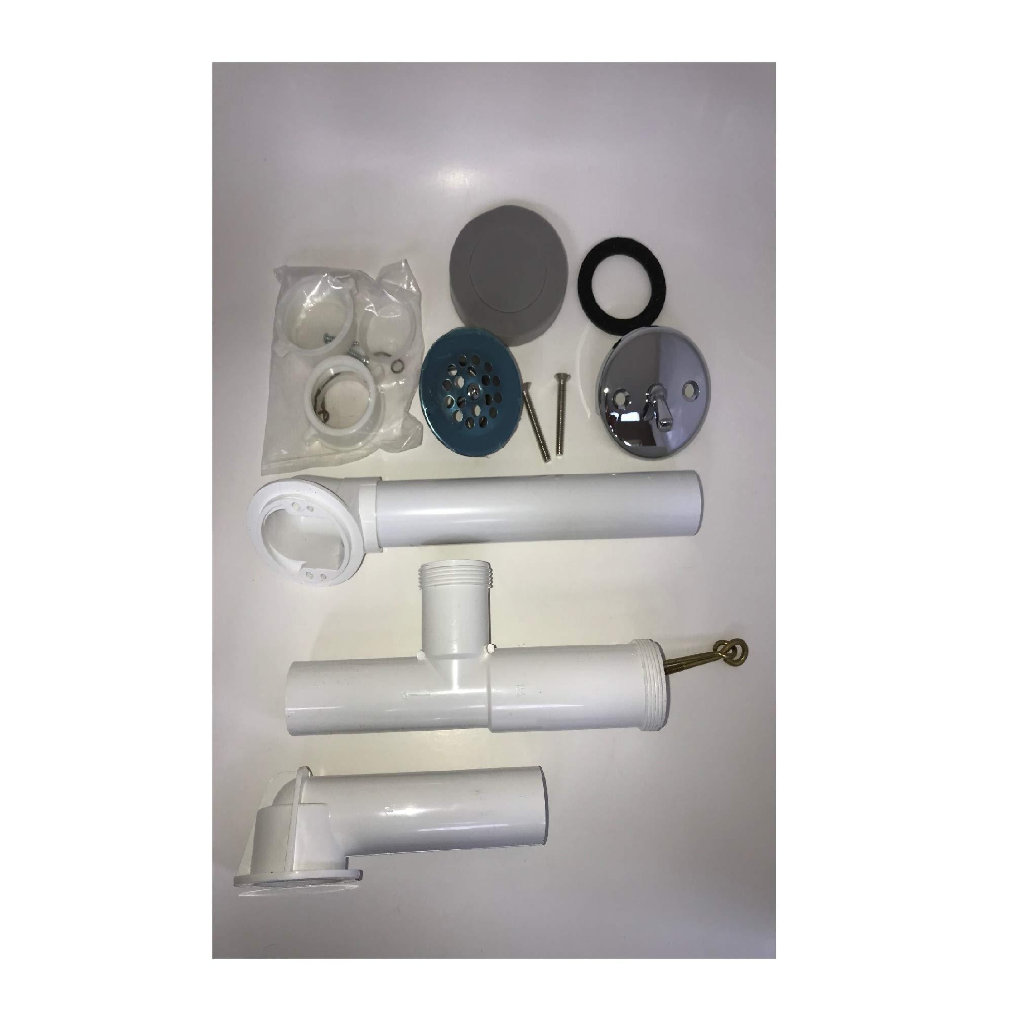 Bathtub Overflow Assembly Parts - 1210 PVC (Chrome Plated)