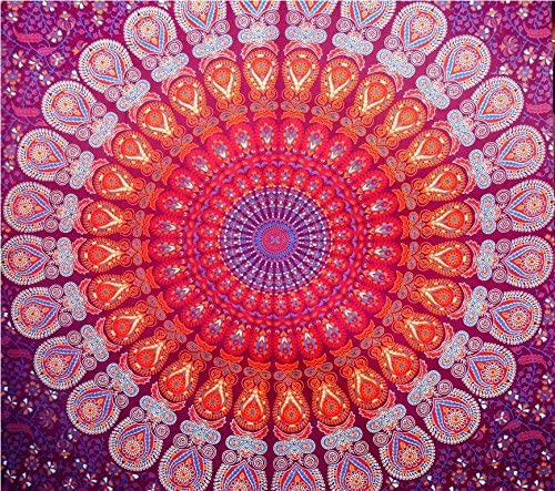 Jaipuri Art And Creations Indian Hippie Mandala Psychedelic Wall Hanging Tapestry Throw Ethnic