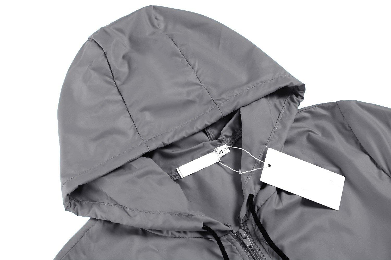Beyove Women's Lightweight Rain Jacket Active Outdoor Waterproof Packable Hooded Raincoat by Beyove (Image #4)