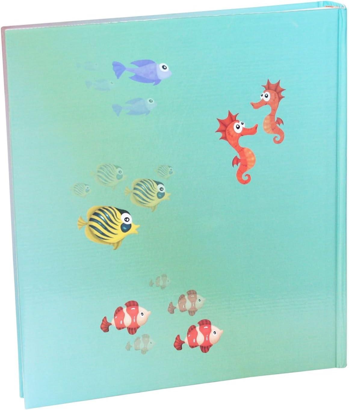50 Pagine con Pergamena FSC Mix Idena Jumbo Album SottAcqua Mondo Circa 31,5 x 33,5 x 5 cm