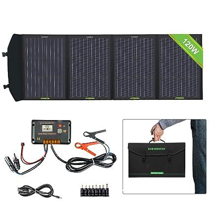 Amazon.com: ECO-WORTHY Cargador de panel solar plegable de ...