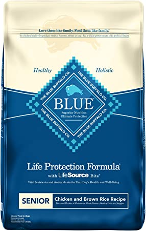 Blue Buffalo Life Protection Formula Senior Dog Food - Most Efficient Senior Dog Food for Hypothyroidism