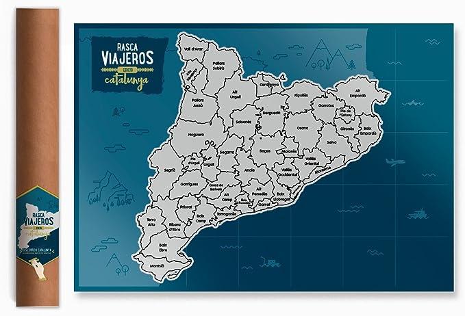 Mapa rascable Cataluña (plateado): Amazon.es: Oficina y papelería