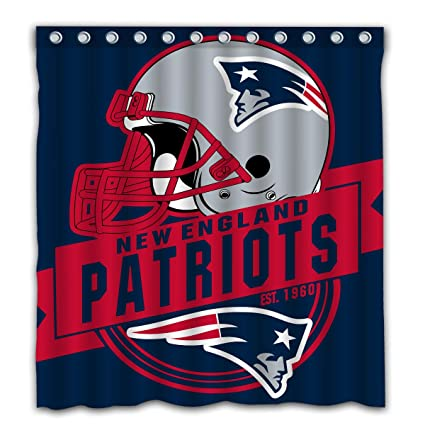 Image Unavailable Not Available For Color Felikey Custom New England Patriots Waterproof Shower Curtain