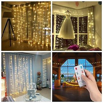 Weihnachtsbeleuchtung Led Fernbedienung.3 3m 300er Led Diamant Lichtvorhang Fernbedienung Home Dekorations Licht Ip44 Wasserfest Kupferkabel Led Lichterketten Für Weihnachten Deko
