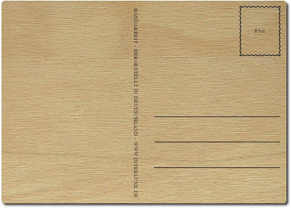Interluxe Postkarte aus Holz Manchmal bedeutet Zuhause gar nicht vier W/ände DIN A6 105x148mm Karte Echtholz Spruch Liebeserkl/ärung