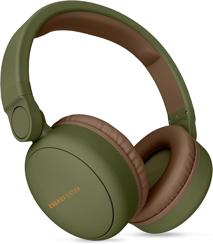 Energy Headphones 2 Auriculares inalámbricos con Bluetooth (Circumaural, Plegable, bateria Recargable,Audio-in) Verde