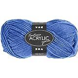 42176050g 80m Bleu–Double Fil de laine à tricoter en acrylique