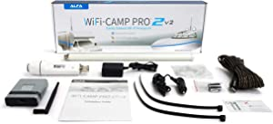 ALFA Network WiFi CampPro 2v2 (Version 2) Universal WiFi/Internet Range Extender Kit for Caravan/Motorhome, Boat, RV