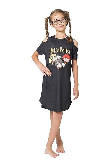 Amazon.com  Harry Potter Girls  Little Chibi Art Cold Shoulder ... 97cfb6f8f