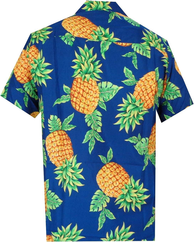 Alvish Hawaiian Shirts Mens Beach Aloha Casual Holiday Short Sleeve Camp Party