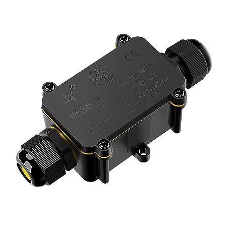 MEIKEE Conector de cable, a prueba de agua IP68, Caja de ...