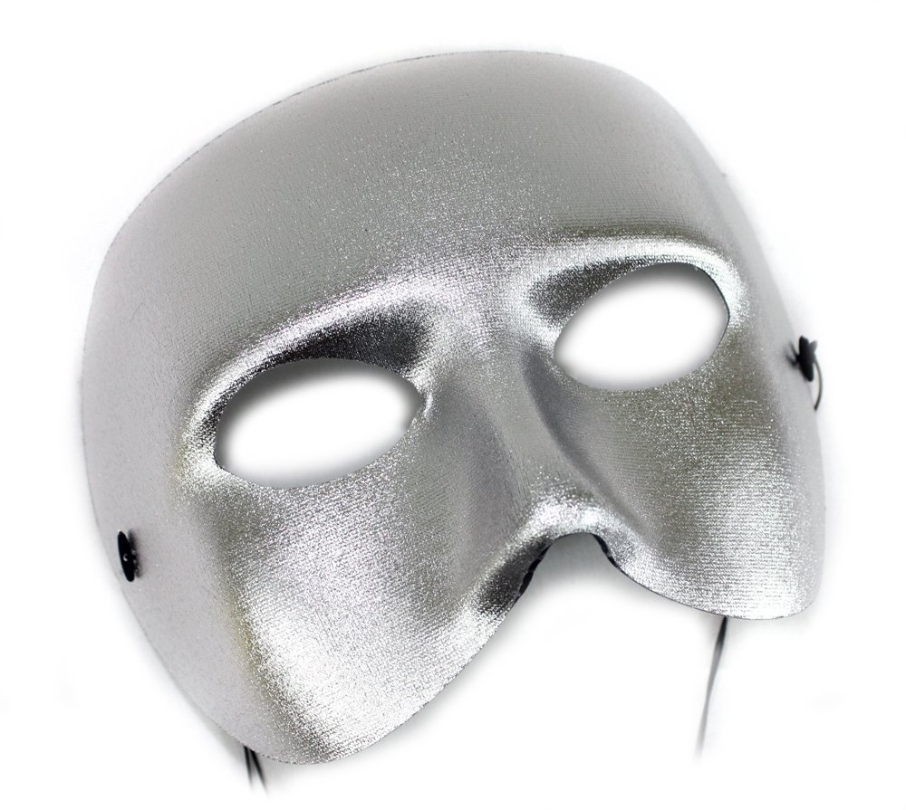 Success Creations Casanova Silver Men's Masquerade Mask