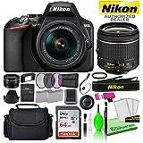 Nikon D3500 24.2MP DSLR Digital Camera with AF-P DX 18-55mm Lens (1590) USA Model Deluxe Bundle -Includes- Sandisk 64GB SD Ca
