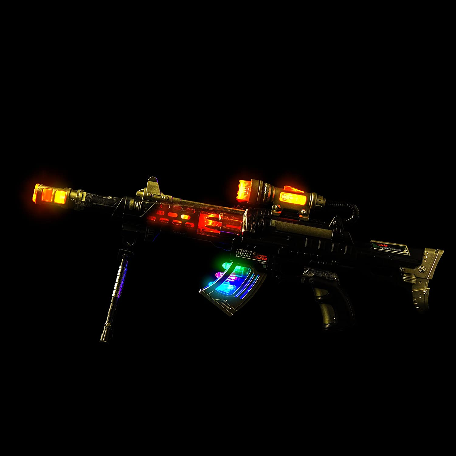 Fun Central BC524 22 Inches LED Special Ops Rifle Led Light Up Toy Gun Led Light Blaster Toy Gun with Lights