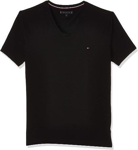 TALLA L. Tommy Hilfiger Core Stretch Slim Vneck Tee Camiseta Hombre