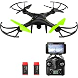 Potensic Drone con Telecamera, U42W Aggiornato WiFi FPV 2.4Ghz Hover Droni Quadricottero Videocamera Camera , Headless Mode, 3D Flips